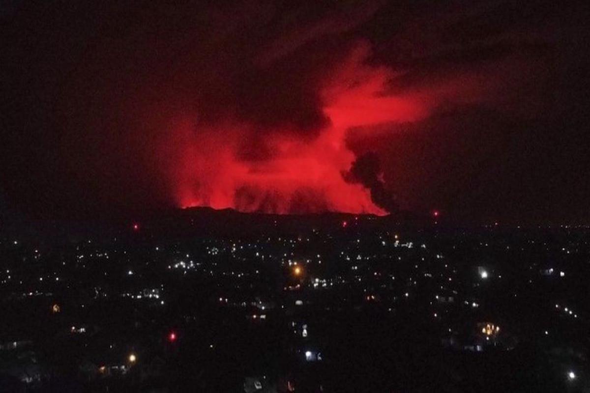 Volcano erupts near Goma in Democratic Republic of Congo