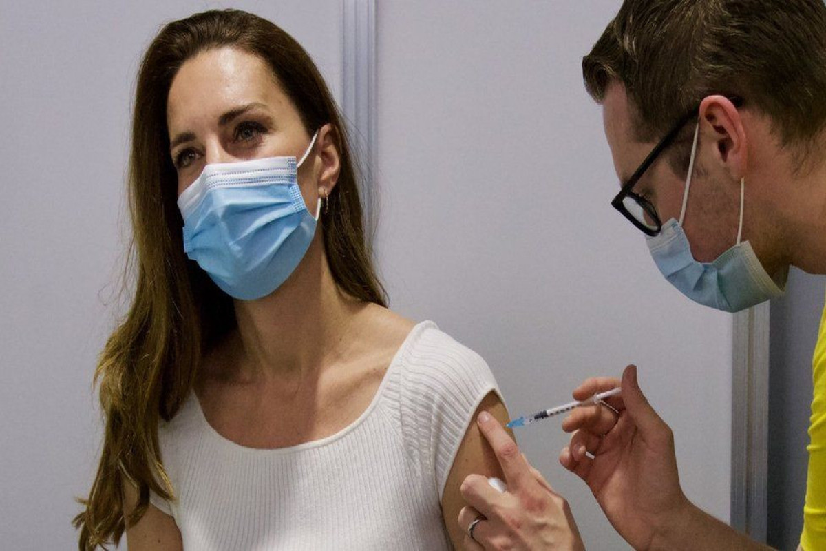 Duchess of Cambridge gets first Covid vaccine dose