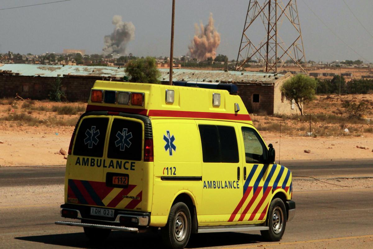 В Ливии во время военного парада разбился истребитель
