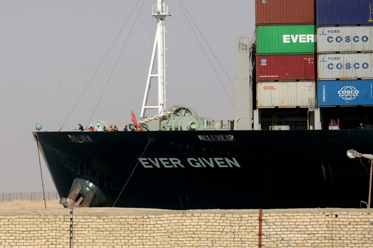 Egyptian court delays hearing in Suez container ship compensation case