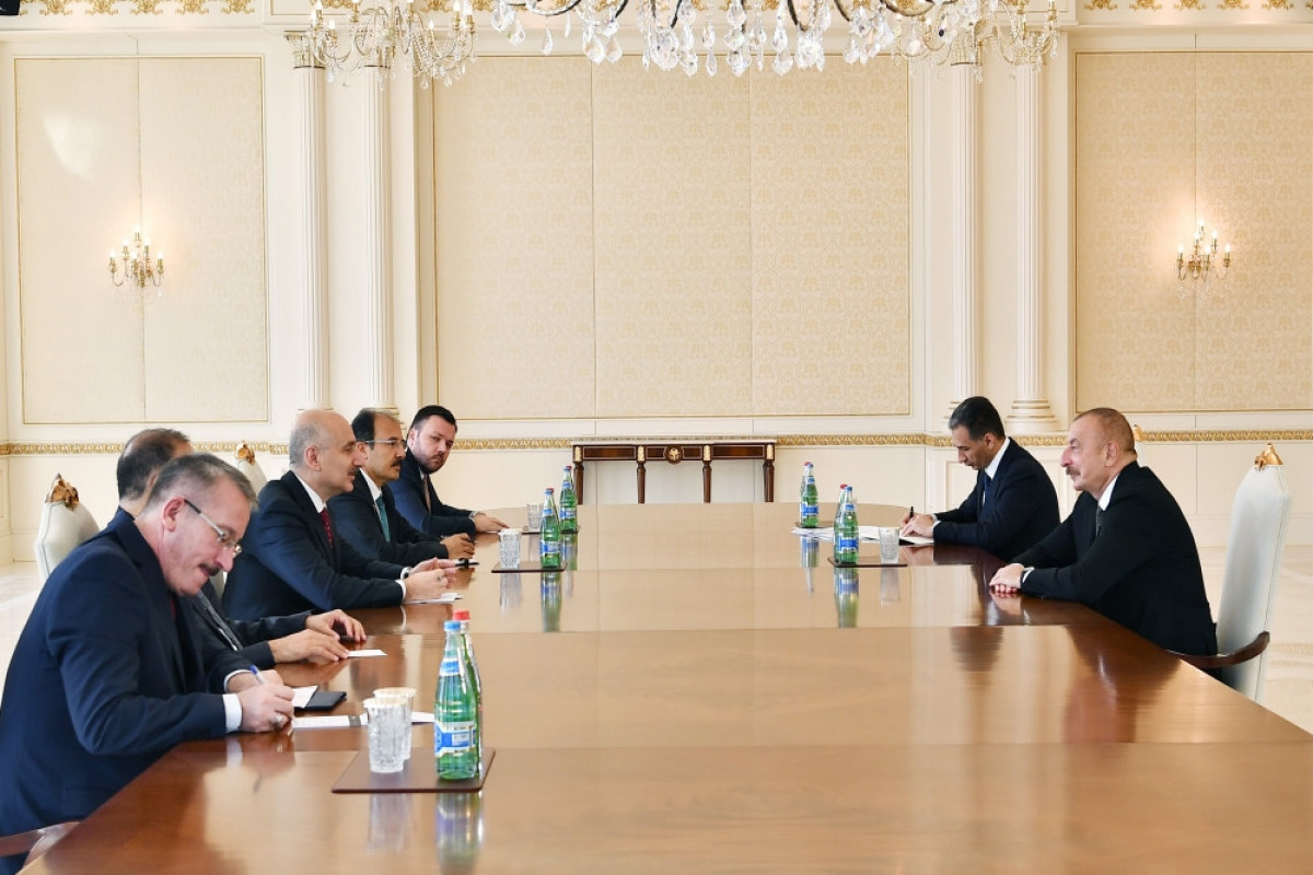"""President Ilham Aliyev received delegation led by Turkish minister of transport and infrastructure-<span class=""""red_color"""">UPDATED"""