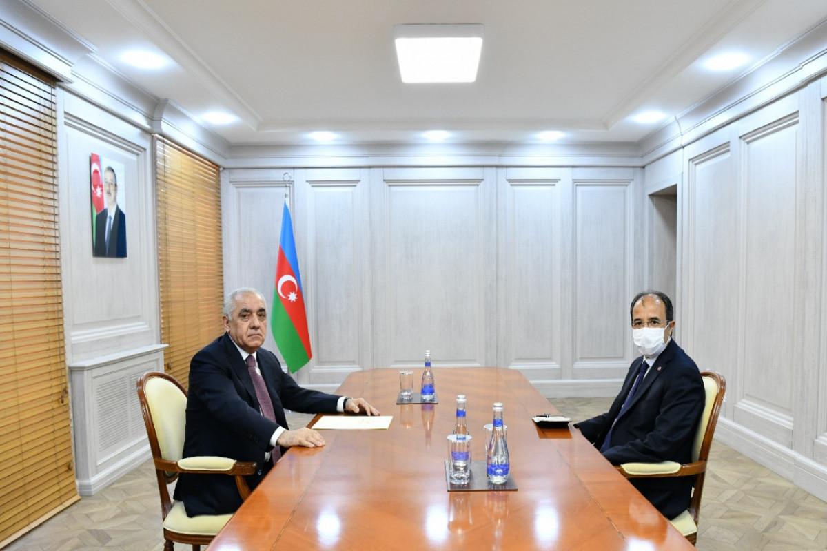 Azerbaijani PM met with Turkish ambassador