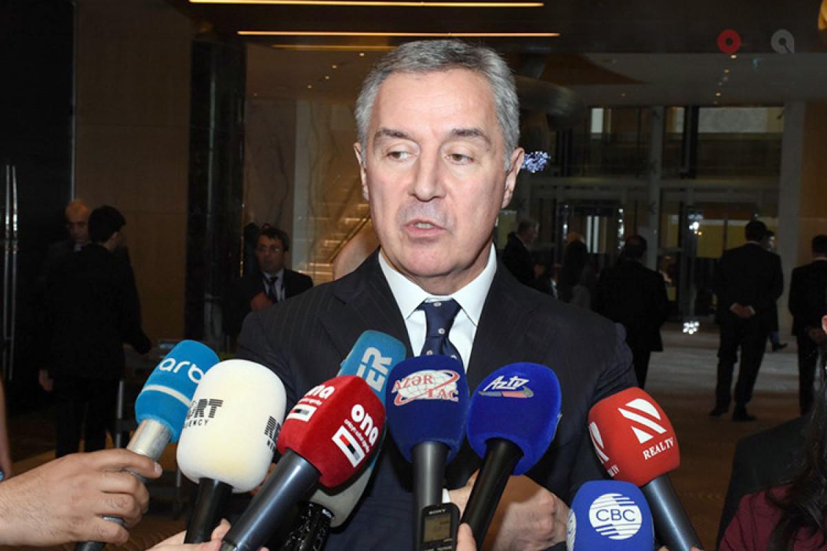"""Monteneqro Prezidenti Milo Cukanoviç: """"Azərbaycanla dostluq münasibətlərimiz möhkəmlənir"""""""