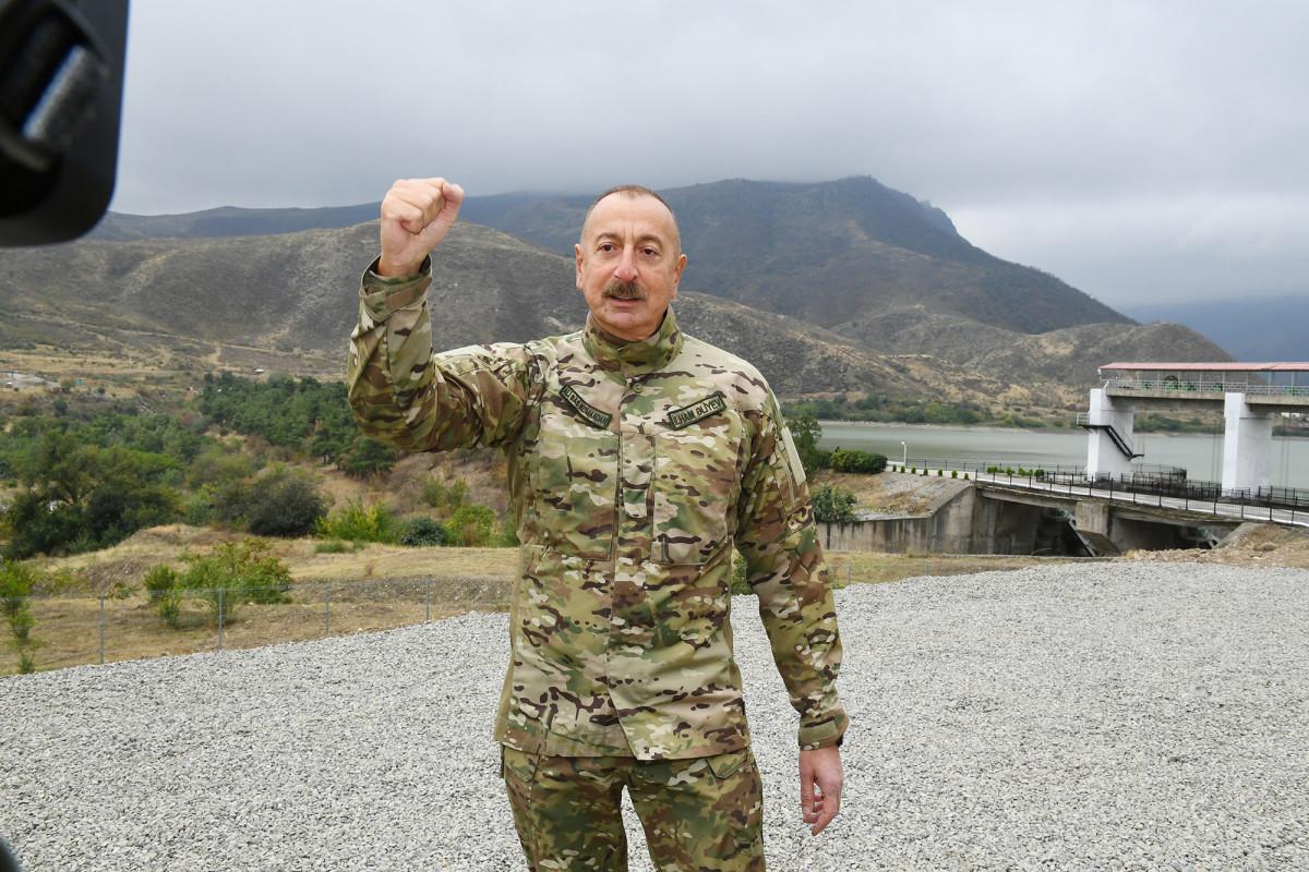 Prezident İlham Əliyev Tərtər və Bərdə rayonlarında səfərdə olub - VİDEO