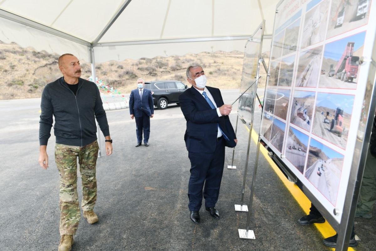 Talış-Tapqaraqoyunlu-Qaşaltı-Naftalan yolunun təməlinin qoyulması
