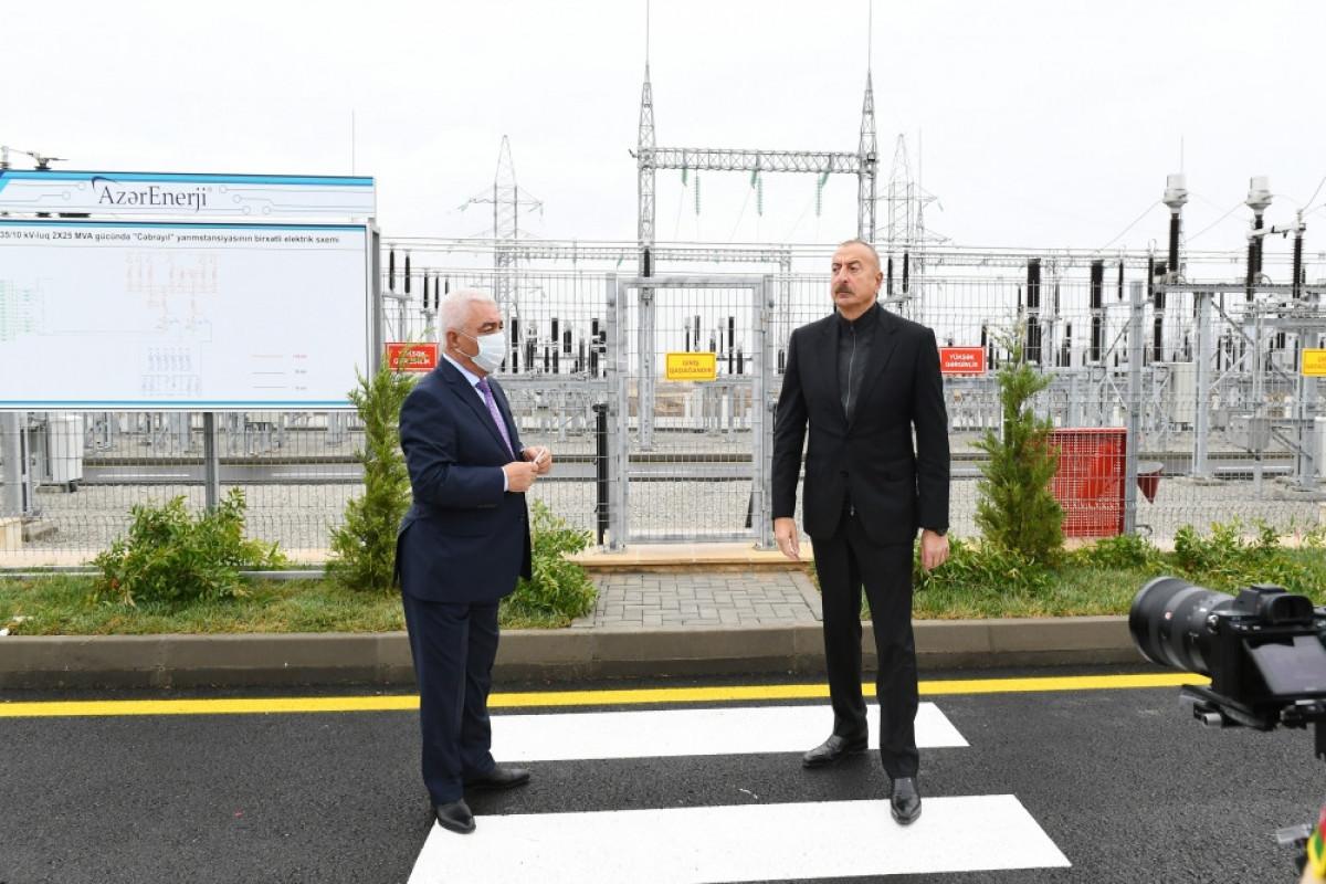 Prezident İlham Əliyev Cəbrayıl rayonunda səfərdə olub - VİDEO