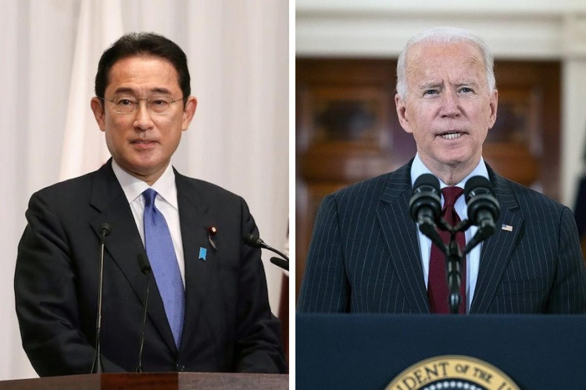 Yaponiyanın yeni Baş naziri Fumio Kişida və ABŞ Prezidenti Co Bayden