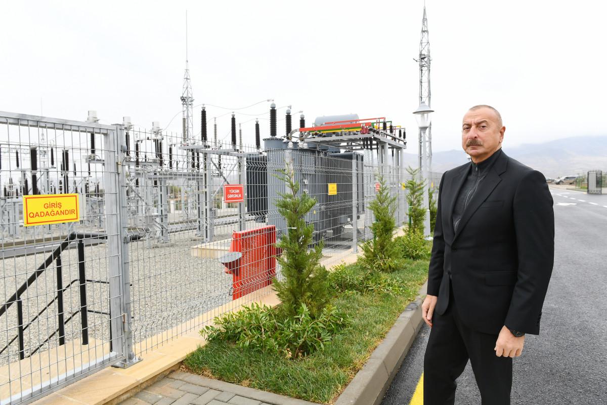 """""""Cəbrayıl"""" yarımstansiyasının açılışı olub"""