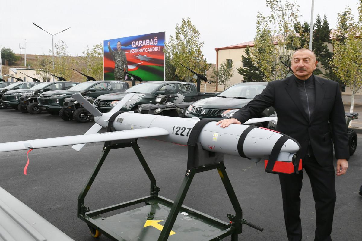 Prezident İlham Əliyev Cəbrayılda hərbi hissə kompleksinin açılışında