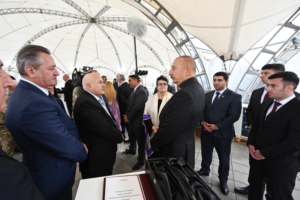 Prezidentin Cəbrayıl ictimaiyyətinin nümayəndələri ilə görüşü
