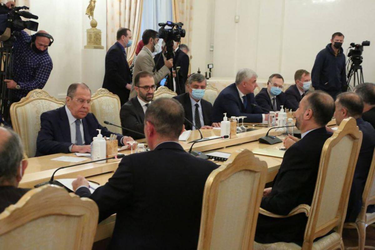 Moskvada Rusiya və İran XİN rəhbərlərinin görüşü keçirilir - FOTO