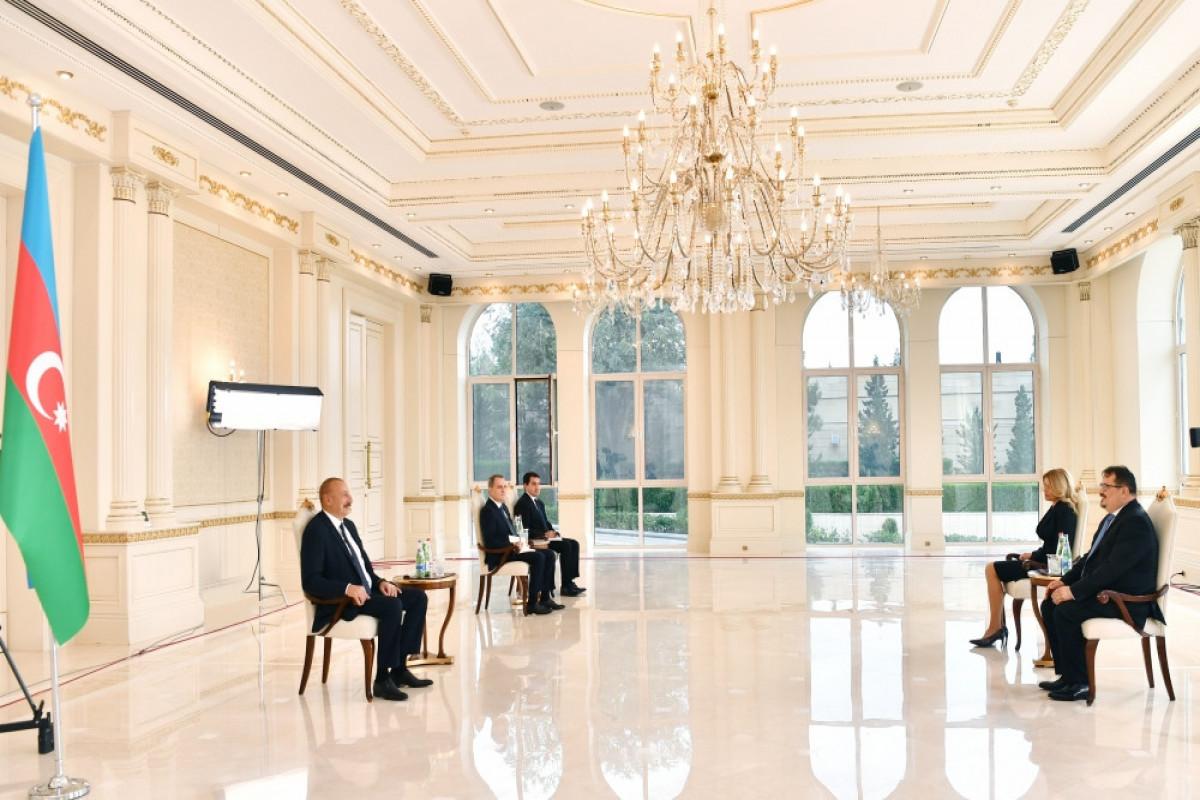 """Azərbaycan Prezidenti: """"Biz qonşumuz Ermənistanla əlaqələr qurmaq istəyirik"""""""