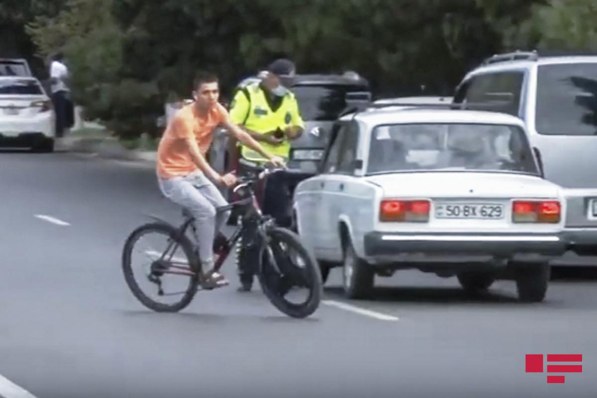 Yol polisi velosipedçilərə müraciət edib