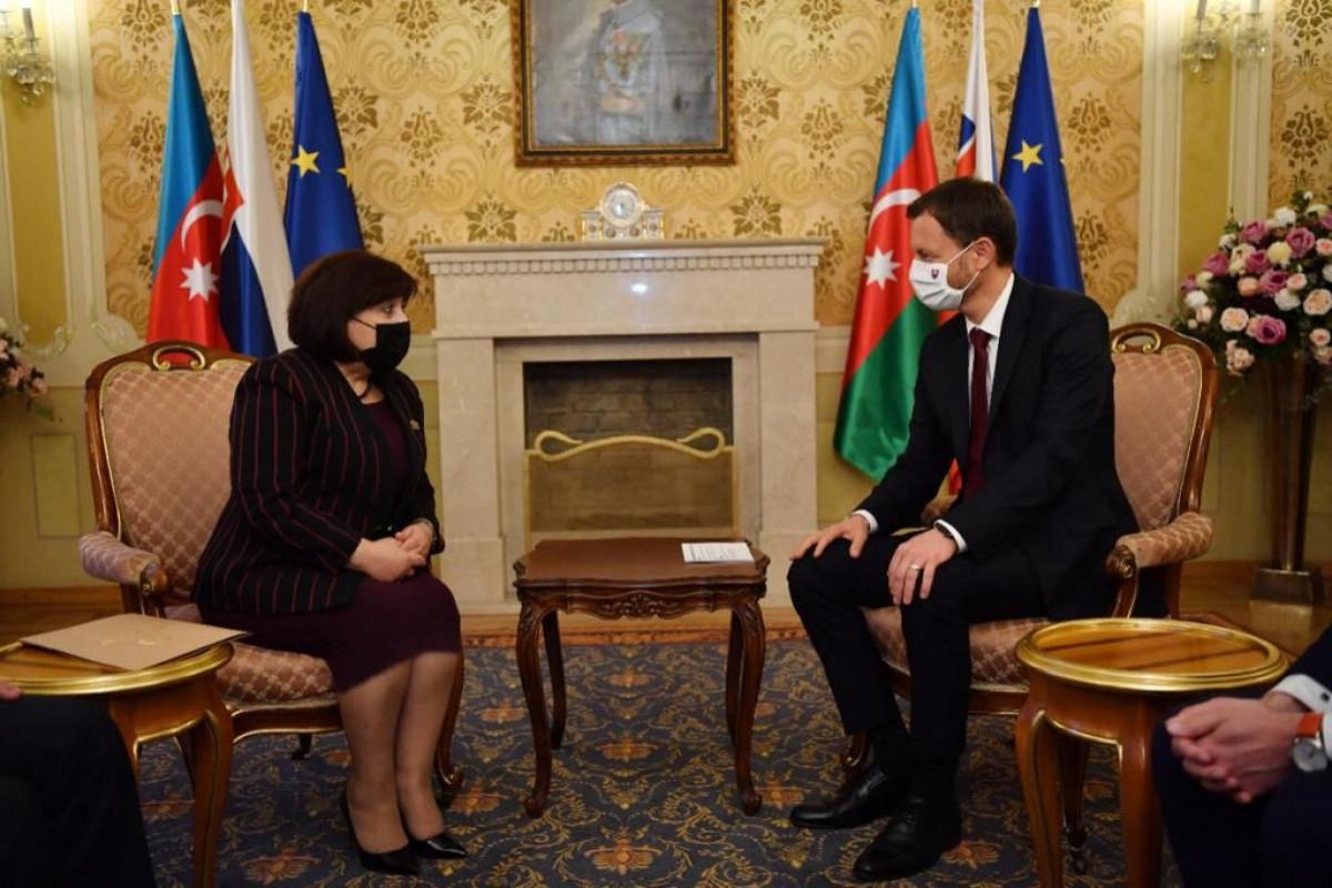 Sahiba Gafarova met with Prime Minister of Slovakia Eduard Heger