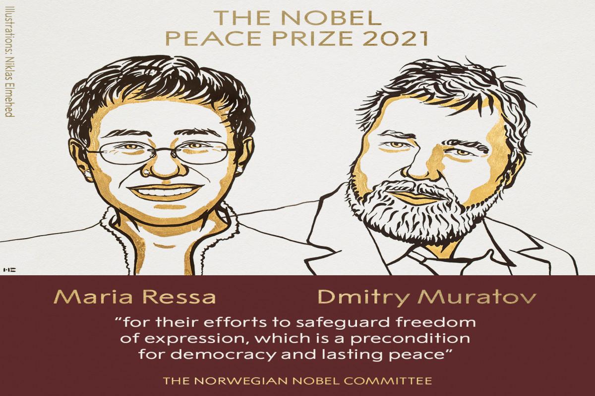 Sülh üzrə Nobel mükafatının qalibləri açıqlanıb