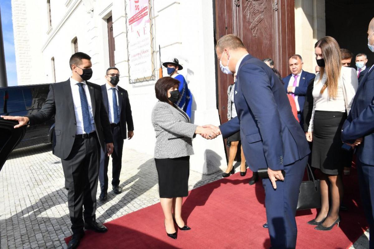 Sahibə Qafarova,  Slovakiya Respublikası Milli Şurasının sədri Boris Kollar ilə görüş