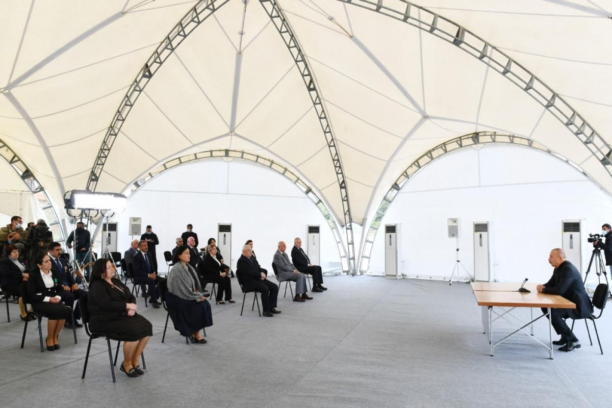Prezidenti İlham Əliyevin Xocavənd ictimaiyyətinin nümayəndələri ilə görüşü
