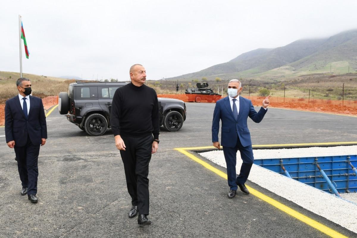 """Prezident İlham Əliyev """"Hadrut"""" yarımstansiyasının təməlini qoyur"""