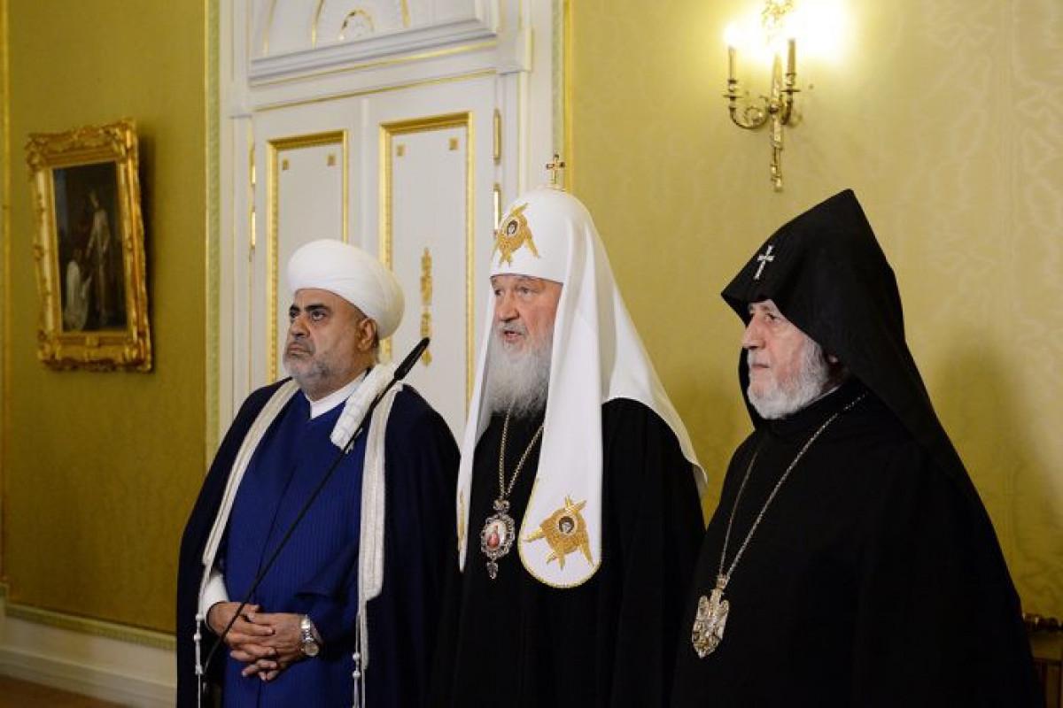 A. Paşazadə, Rusiyanın Patriarxı Kirill və II Qaregin