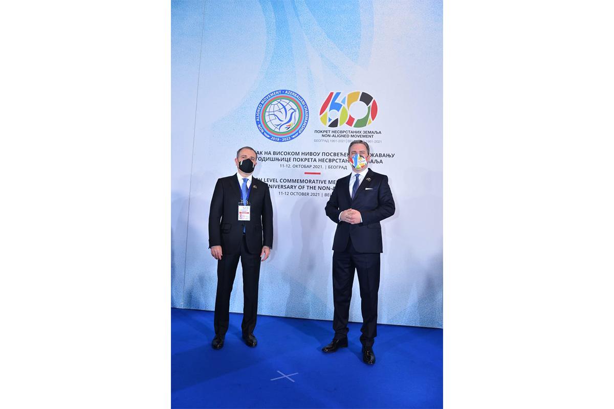 Ceyhun Bayramov Serbiyanın xarici işlər naziri ilə görüşüb