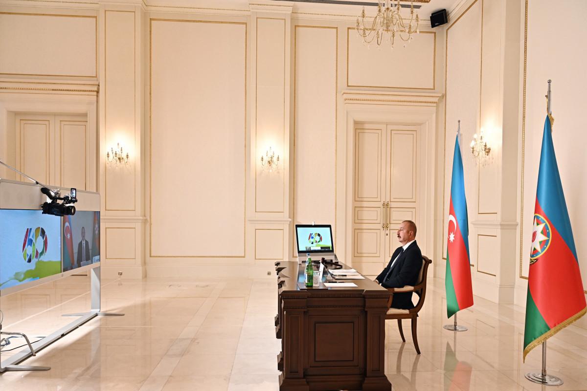 """Prezident: """"Vətən müharibəsi zamanı Qoşulmama Hərəkatının yeddi ölkəsinin bizə verdiyi dəstək olduqca dəyərlidir"""""""