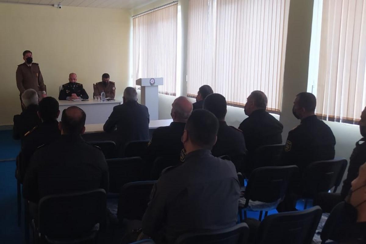 FHN DİN-in Gəncə Regional Mühafizə İdarəsində maarifləndirmə tədbiri keçirib