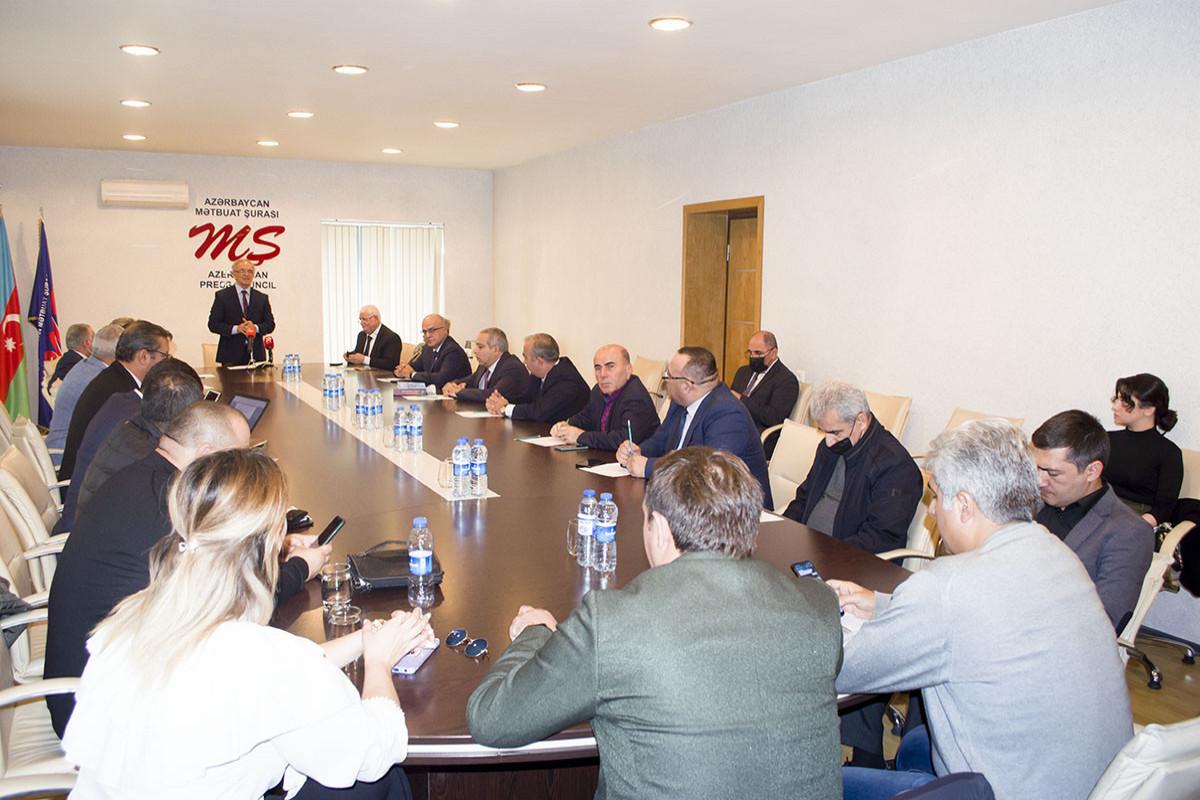 """""""Media və siyasi proseslərə baxış: peşə etikası və perspektiv vəzifələr"""" mövzusunda konfrans keçirilib"""