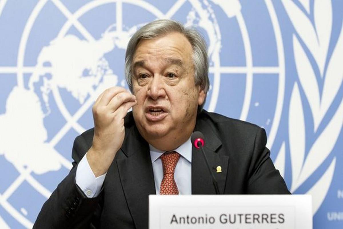 BMT-nin Baş katibi Antonio Quterreş