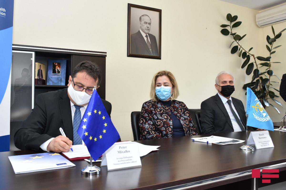 Aİ, ÜST və Səhiyyə Nazirliyi arasında təhvil-təslim aktı imzalanıb