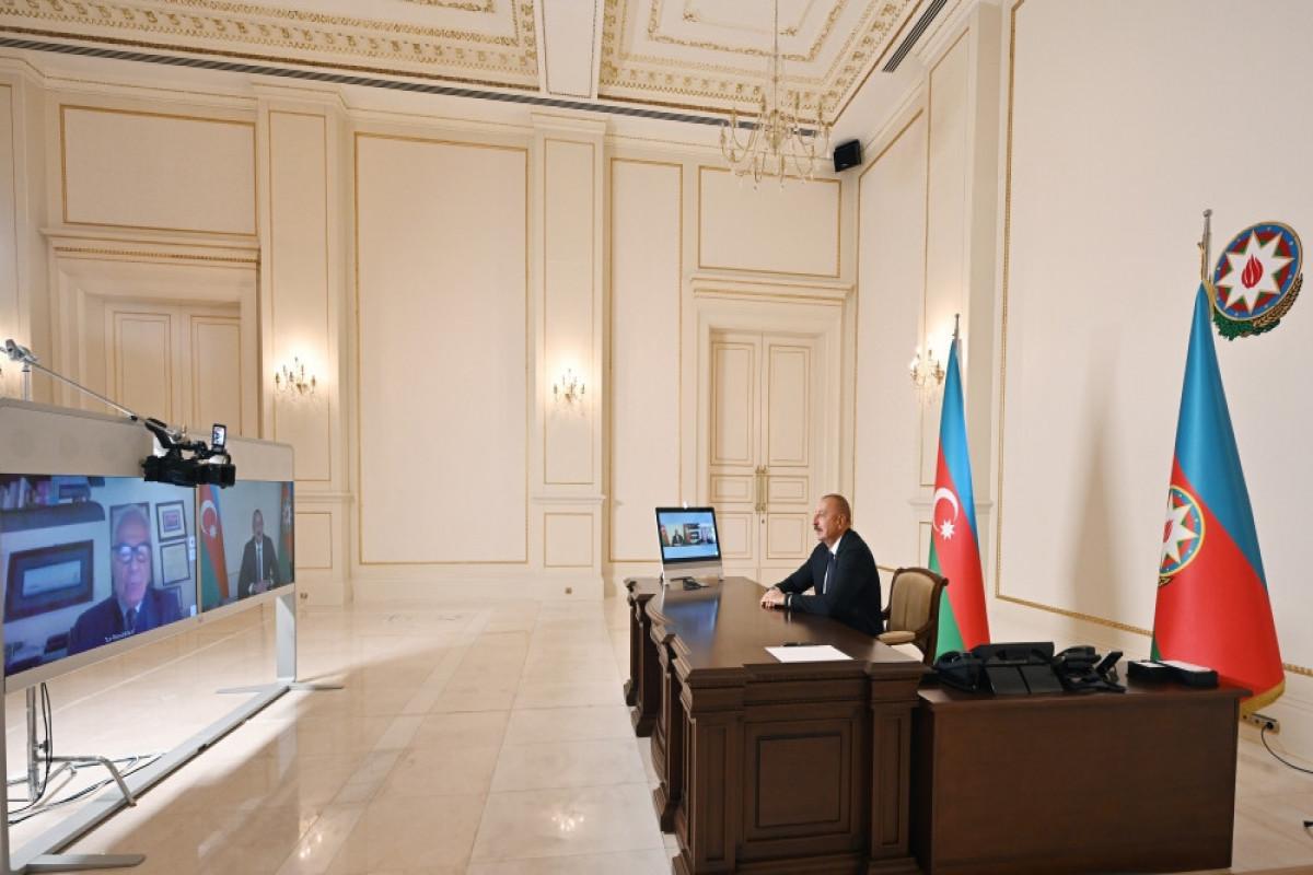 President of the Republic of Azerbaijan Ilham Aliyev was interviewed by the Italian La Repubblica newspaper