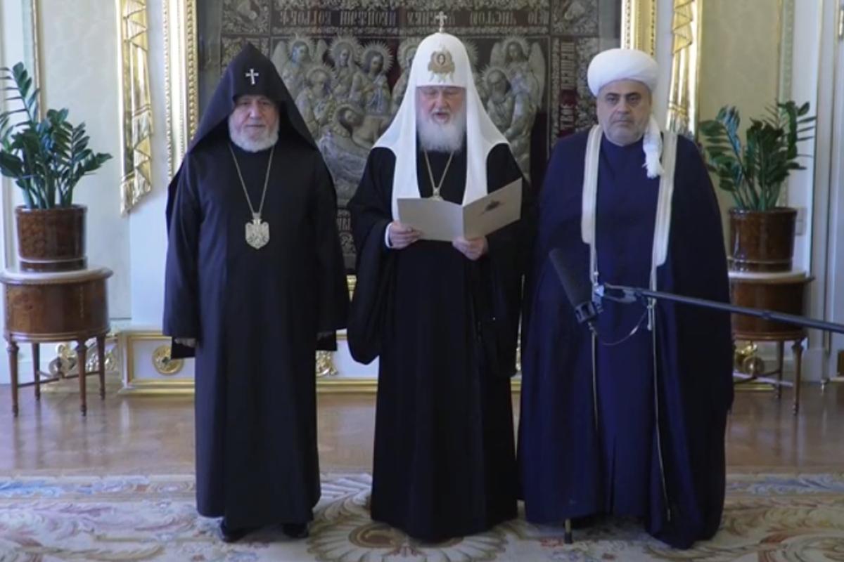 Гарегин II, Патриарх Кирилл, Аллахшукюр Пашазаде