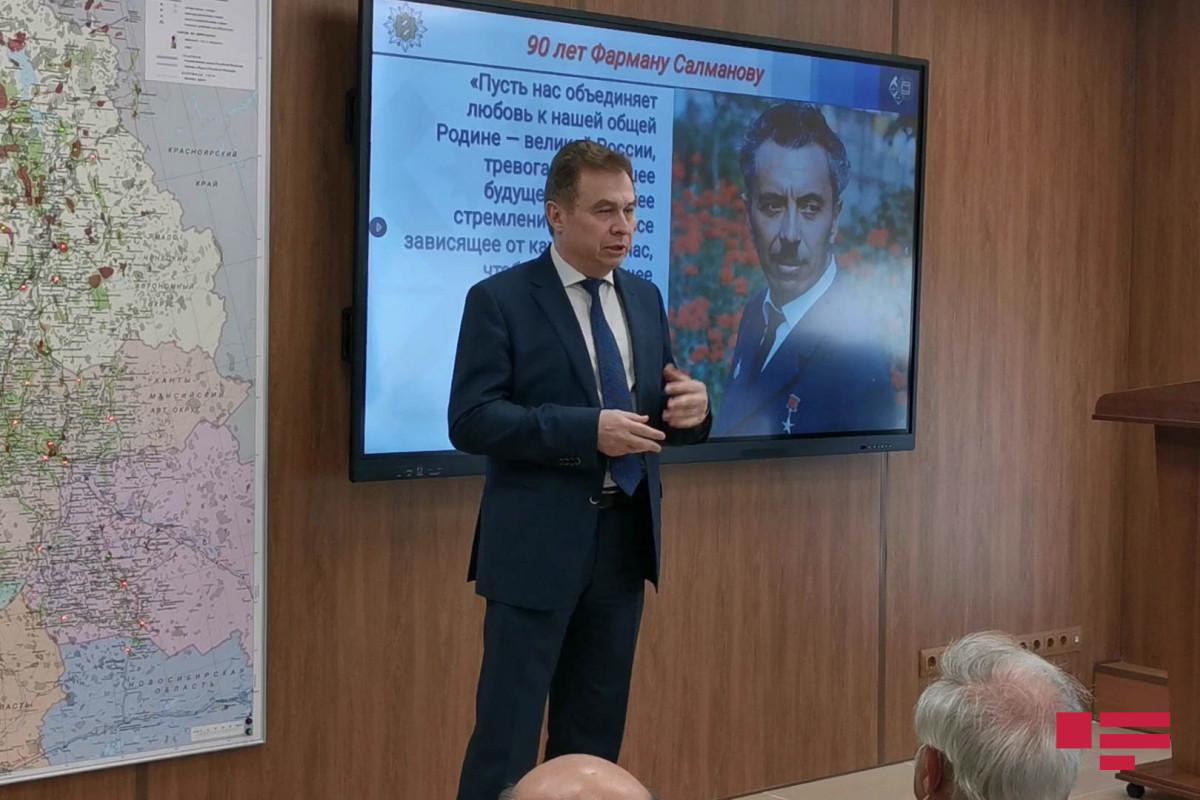 Moskvada Fərman Salmanovun adına auditoriyanın və büstünün açılışı olub - FOTO