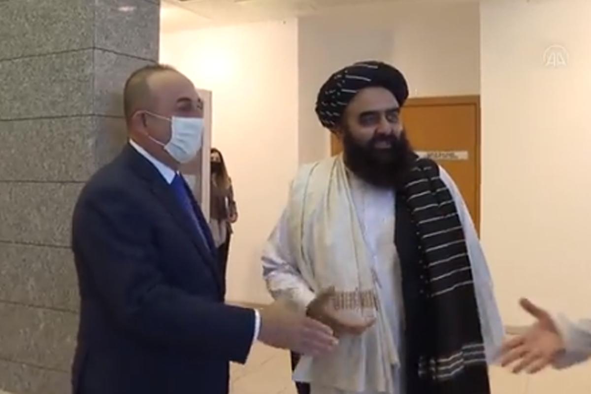 Çavuşoğlu Ankarada Talibanın nümayəndə heyəti ilə görüşüb - VİDEO