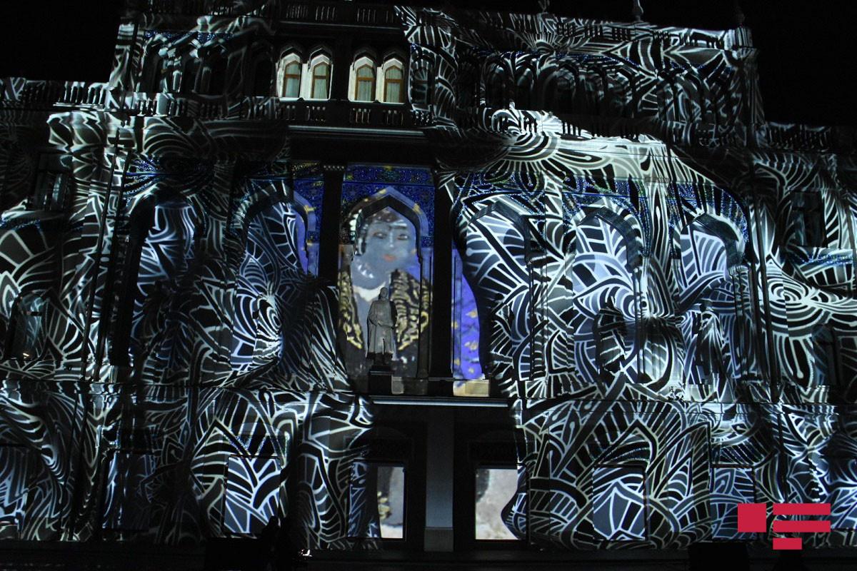 Ədəbiyyat Muzeyinin fasadında 3D formatda miniatürlər canlandırılıb - FOTOLENT