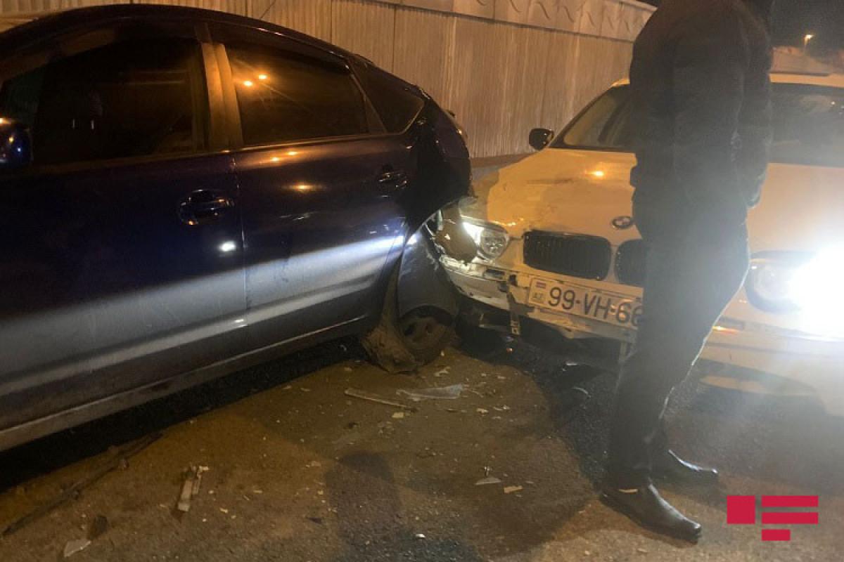 Bakıda üç avtomobil toqquşub - FOTO  - VİDEO