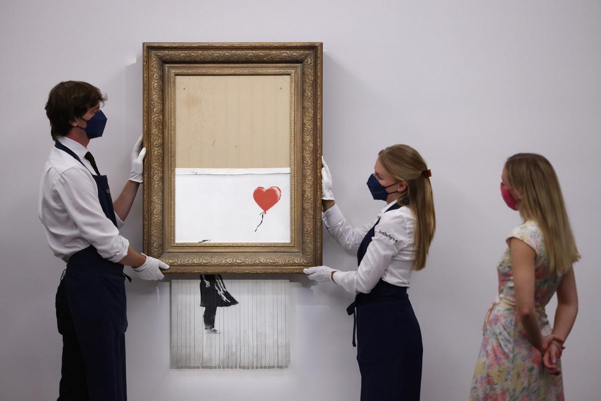 Shredded Banksy artwork sells for $25.4 million at auction