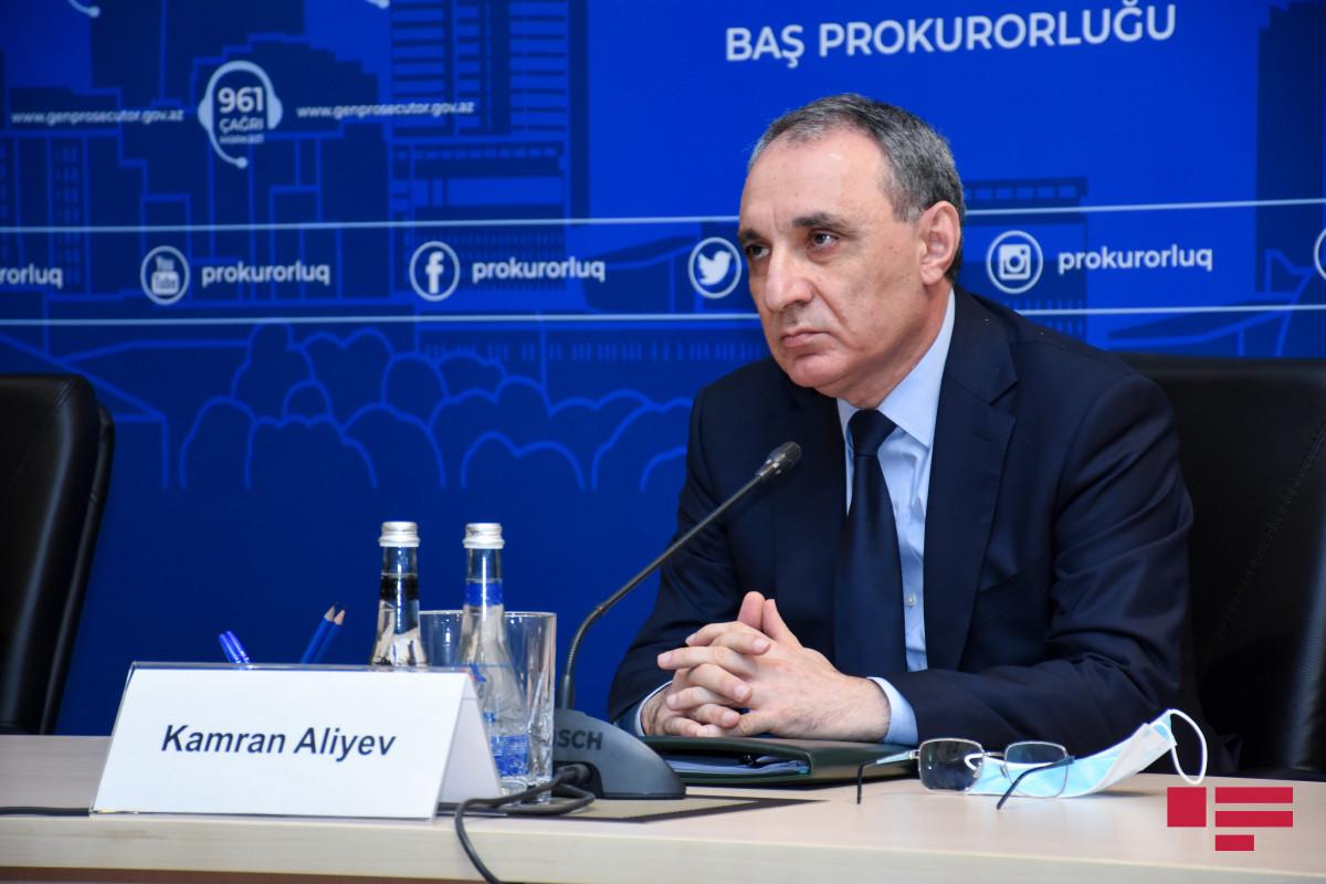 Prosecutor General of Azerbaijan Kamran Aliyev