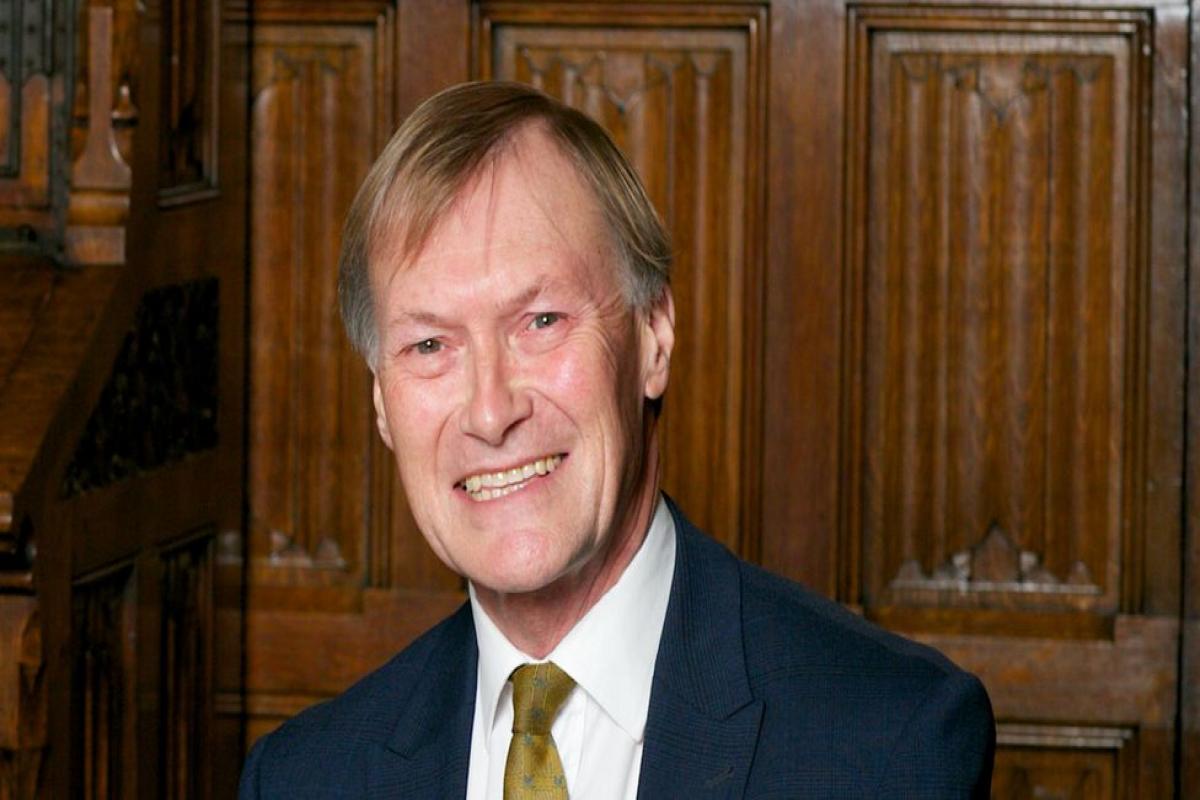 British conservative MP Sir David Amess