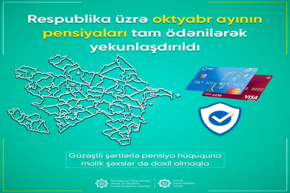 В Азербайджане полностью выплачены пенсии за октябрь