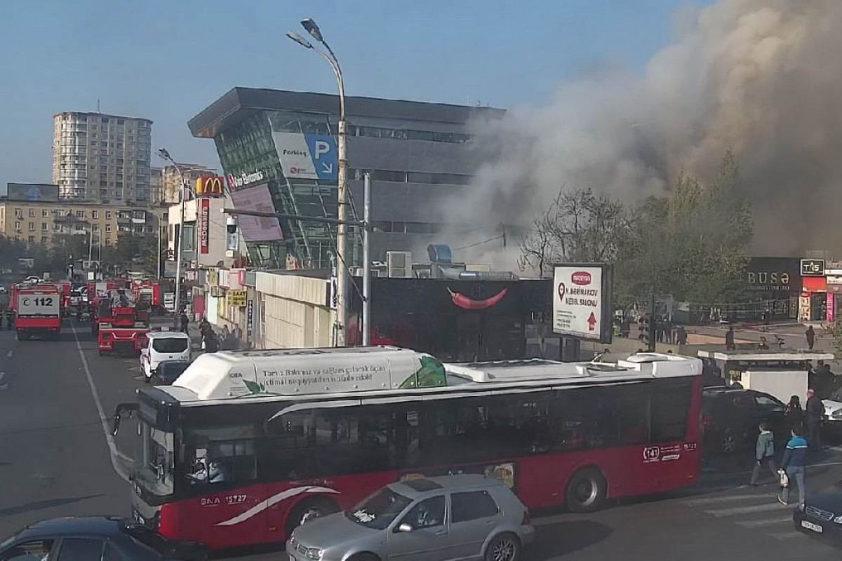 """Fire occurred in trade objects in Baku extinguished -<span class=""""red_color"""">UPDATED-3-<span class=""""red_color"""">PHOTO-<span class=""""red_color"""">VIDEO"""