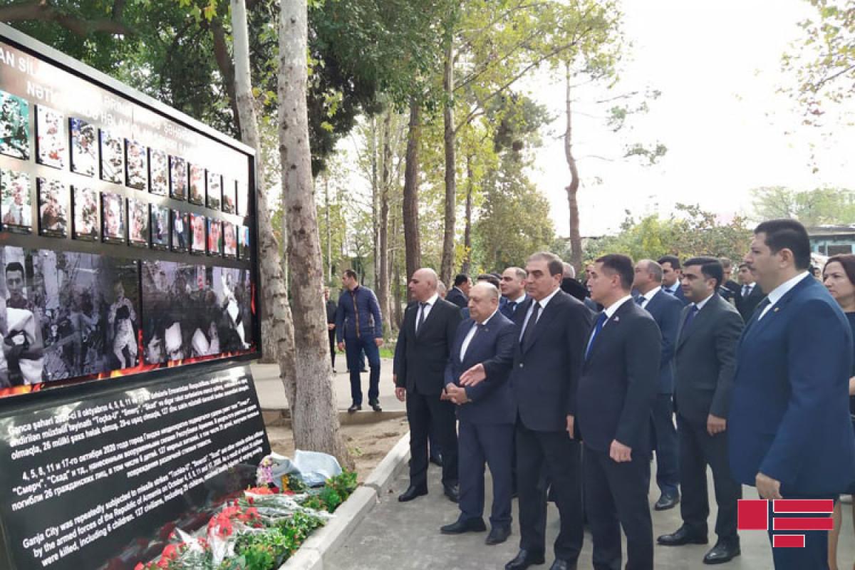 В Гяндже почтили память погибших в результате ракетных ударов Армении