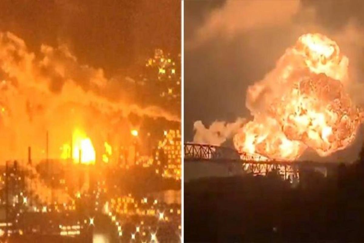 На нефтеперерабатывающем заводе в Кувейте произошел пожар