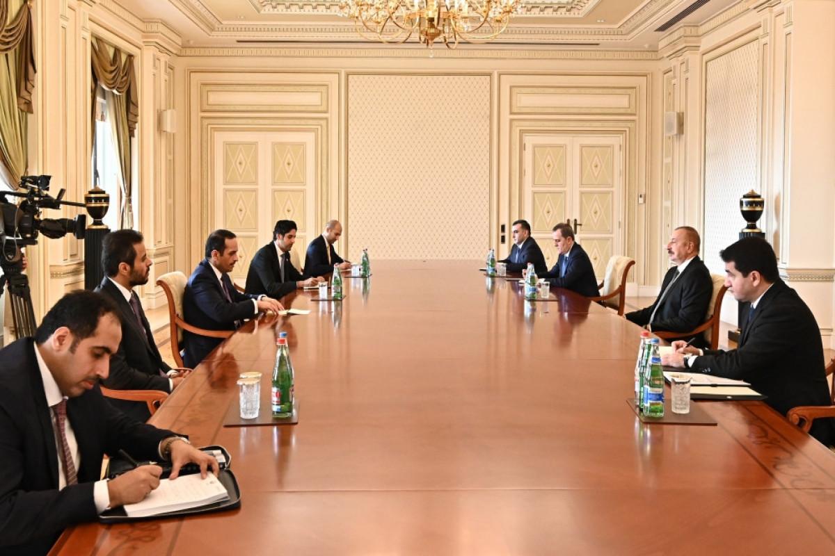 Azerbaijani President received deputy prime minister of Qatar