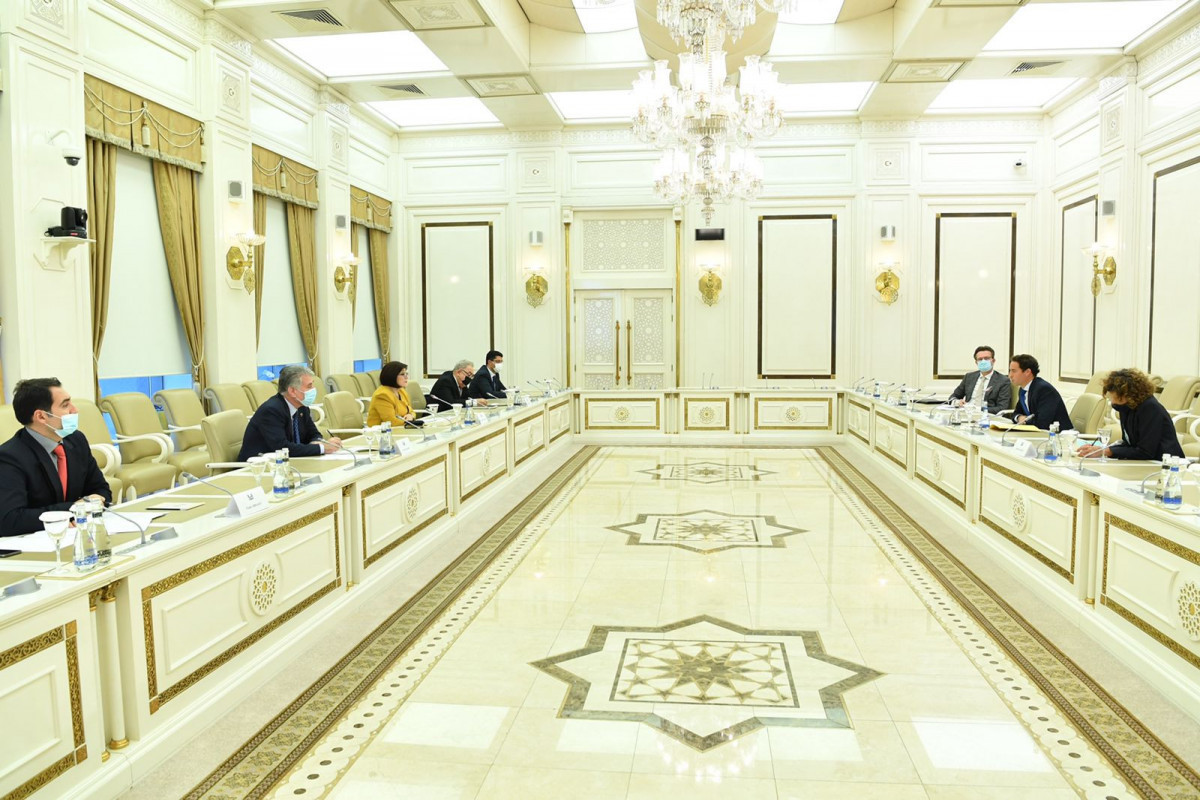 Chair of Milli Majlis Sahiba Gafarova Meets a NATO Delegation