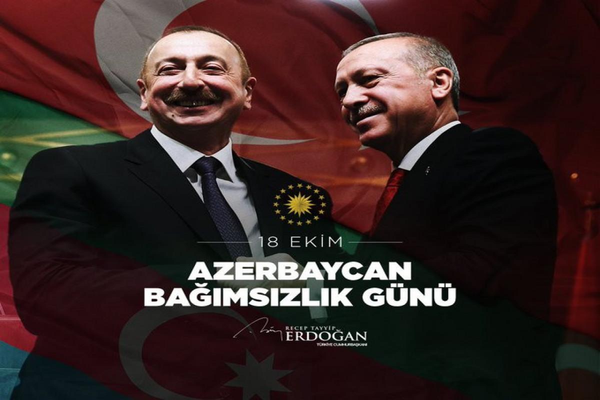 Эрдоган поделился публикацией в связи с Днем восстановления независимости Азербайджана