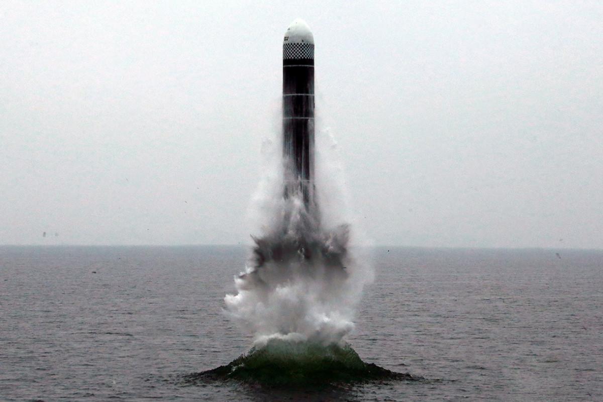 КНДР испытала баллистическую ракету подводных лодок