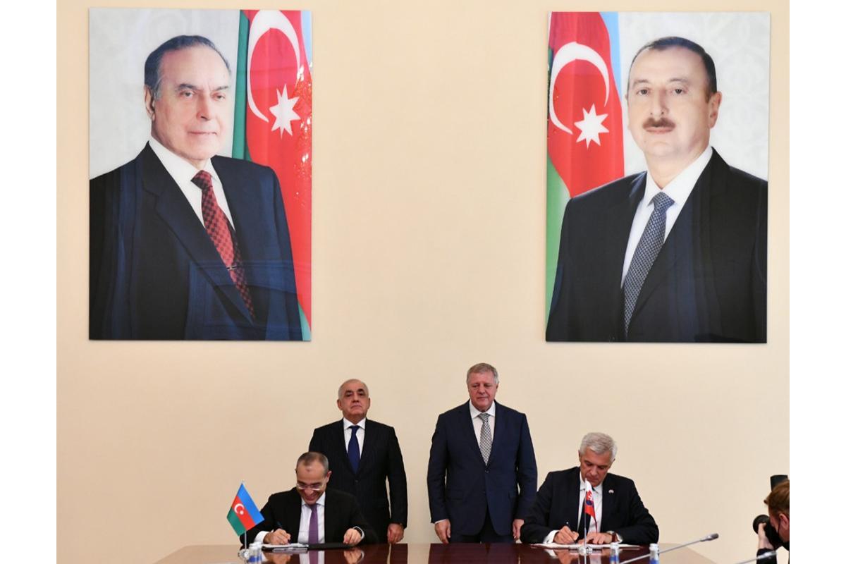 Azərbaycanla Slovakiya arasında iqtisadi əməkdaşlıq haqda Saziş imzalanıb