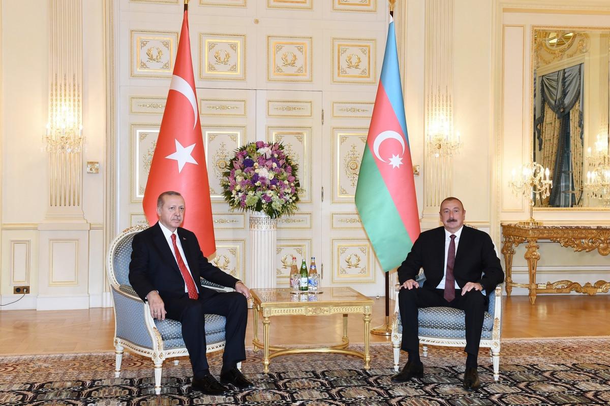 President of AzerbaijanIlham Aliyev and Turkish President Recep Tayyip Erdogan