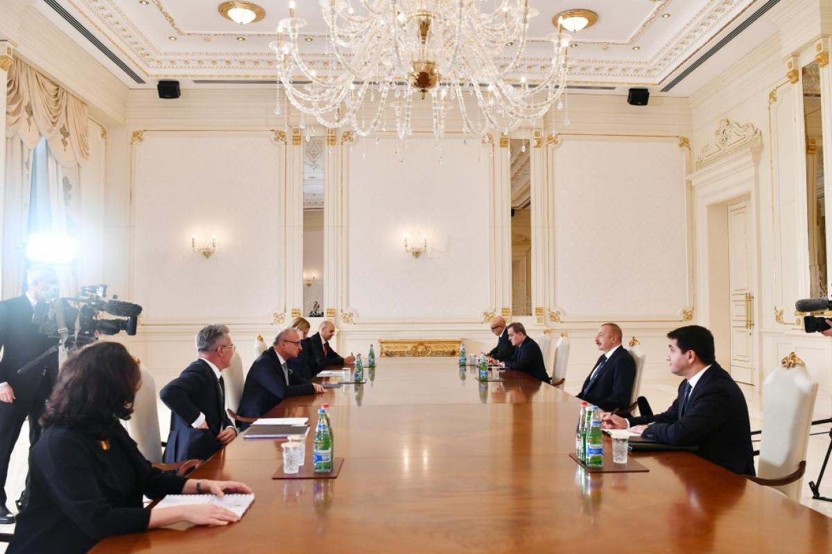 Президент Ильхам Алиев принял министра иностранных и европейских дел Хорватии