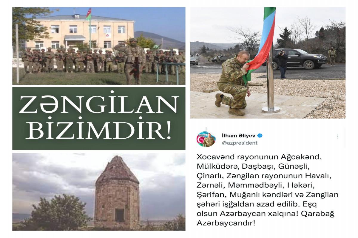 MFA makes Twitter post on the anniversary of liberation of Azerbaijan